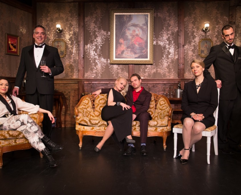 The cast of Morpheus Theatre's The Dinner Party